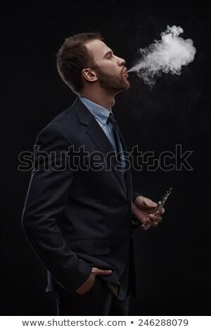 ビジネスマン 喫煙 電子 たばこ オフィス 男 ストックフォト © wavebreak_media