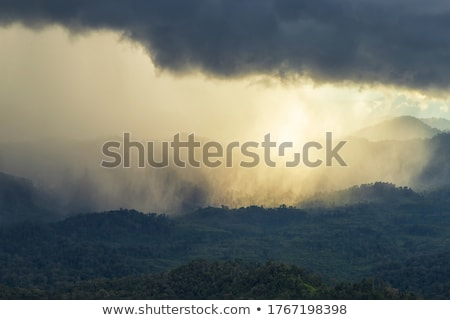 Storm Clouds Prairie Sky Rainbow Stock photo © pictureguy