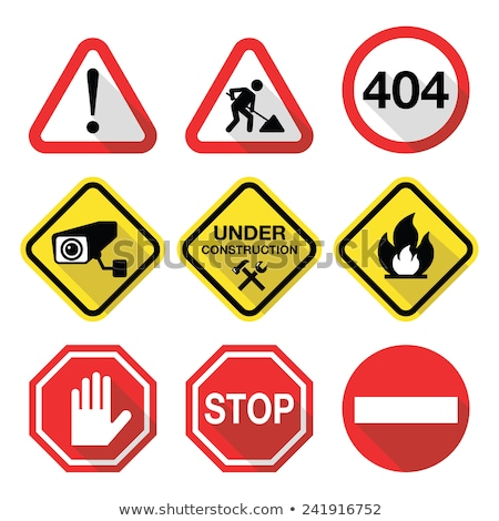 Yangın biçim yol işareti sarı yol mavi Stok fotoğraf © fuzzbones0