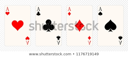 kártyapakli · vektor · összes · szett · arc · jókedv - stock fotó © bigalbaloo