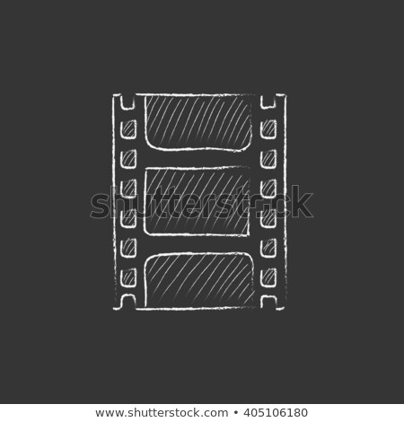 Negatywne ikona kredy tablicy Zdjęcia stock © RAStudio