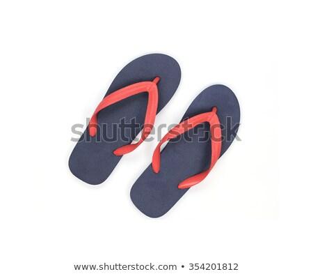 Różowy plaży buty odizolowany biały strony Zdjęcia stock © tetkoren