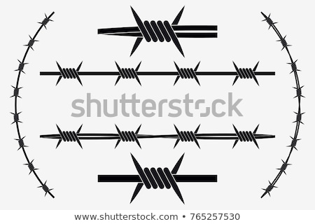 symbol barbed wire Stock photo © tracer