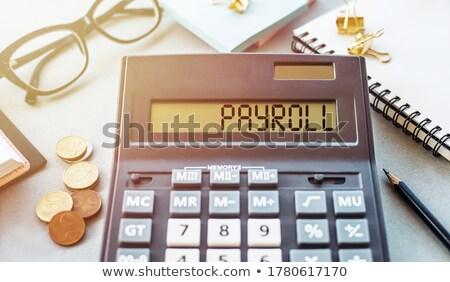 kártya · jövedelem · 3D · mappa · modern · laptop · billentyűzet - stock fotó © tashatuvango