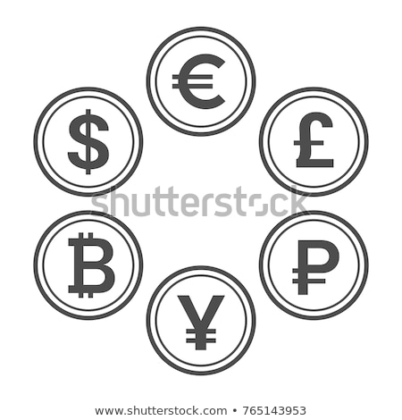 Currency Sign golden Vector Icon Design Stock photo © rizwanali3d