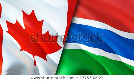 Canada and Gambia Flags Stock photo © Istanbul2009