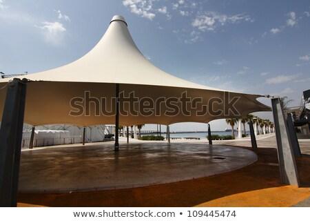 White wedding canopy canvas on blue sky Stock photo © ajfilgud