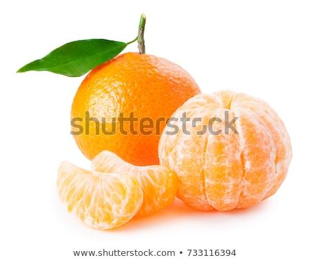 friss · organikus · mandarin · mandarin · gyümölcs · levelek - stock fotó © klinker