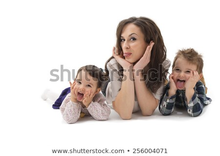 two children lie on the floor 3 Stock photo © Paha_L