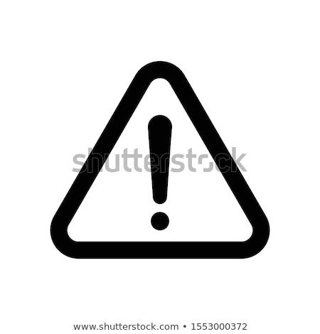 Alert Sign Yellow Vector Icon Design Stock photo © rizwanali3d