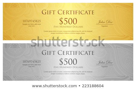Luxury silver gift certificate in vintage style Stock photo © liliwhite
