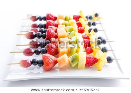 экзотический · фрукты · плодов · лоток · свет · красный - Сток-фото © ozgur