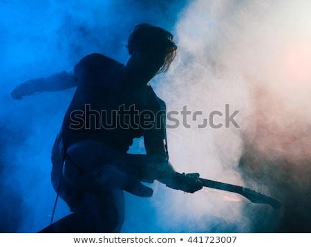Kaya rulo sahne fotoğraf oynama Stok fotoğraf © sumners