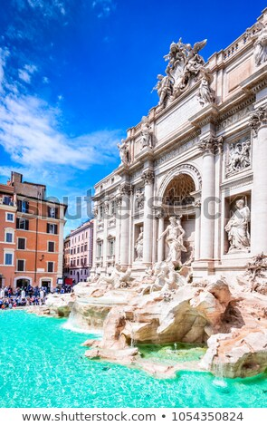 piazza di trevi in rome italy stock photo © vladacanon