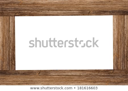 Stock photo: Wooden Frame Cutout