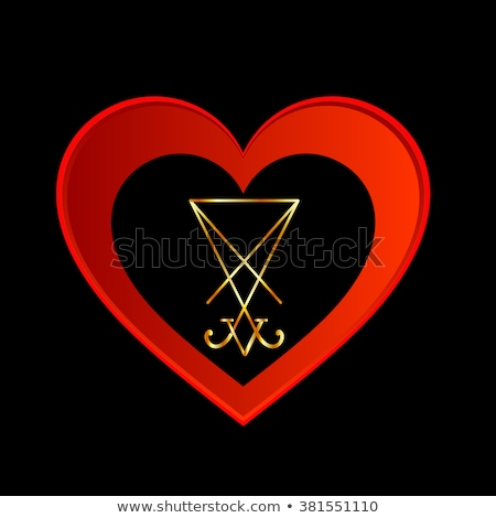 sigil of lucifer within a heart stock photo © shawlinmohd