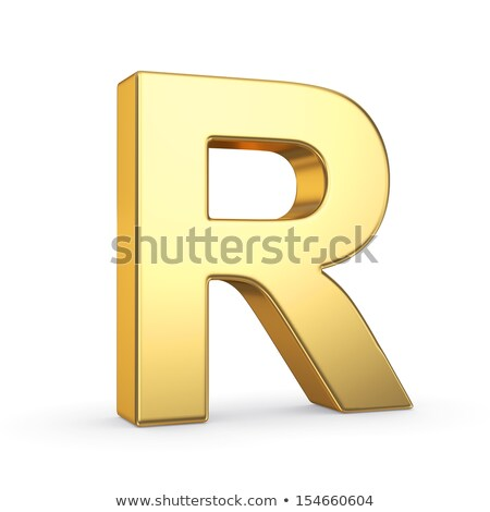 The letter R as a polished golden object with clipping path Stock photo © creisinger