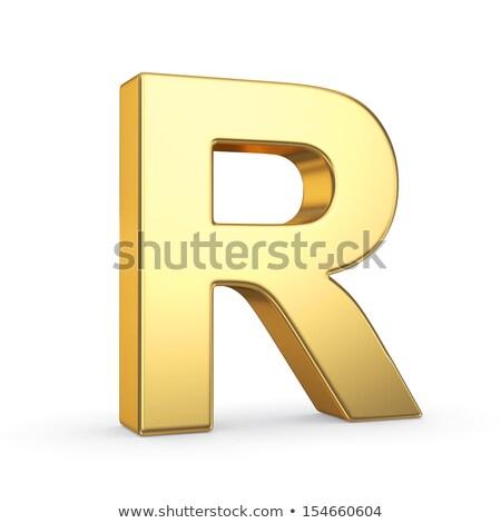 arany · betűtípus · r · betű · 3D · 3d · render · illusztráció - stock fotó © creisinger