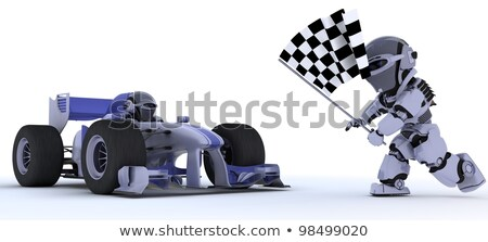 robot with a racing car Stock photo © kjpargeter