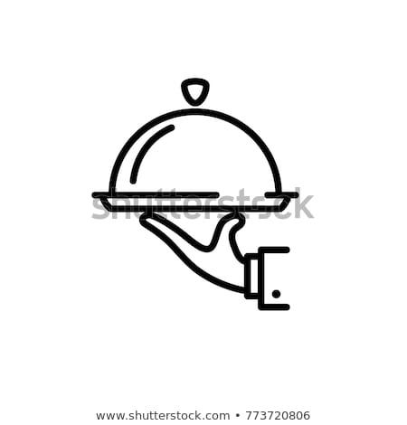 restaurant cloche line icon stock photo © rastudio