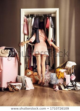 женщину ткань бутик красивая женщина моде Сток-фото © deandrobot