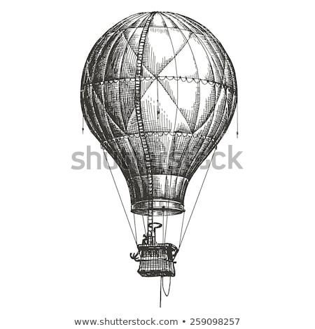hot air balloon line icon stock photo © rastudio