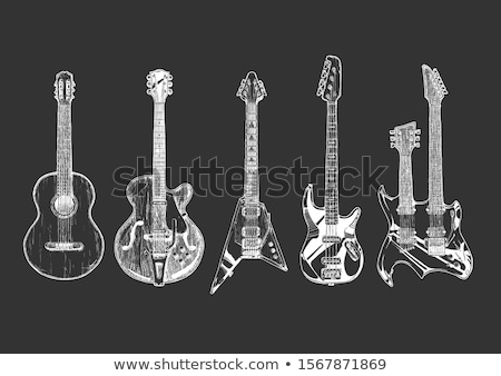 Electric guitar. Drawn in chalk icon. Stock photo © RAStudio