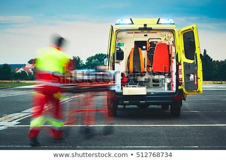 Vészhelyzet mentő illusztráció fehér orvosi fények Stock fotó © bluering