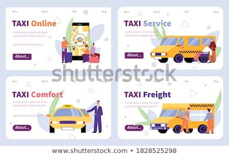 Auto Service Flat Horizontal Banners Set Stock photo © Genestro