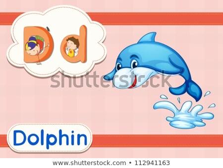 büyü · İngilizce · kelime · ördek · örnek · okul - stok fotoğraf © bluering