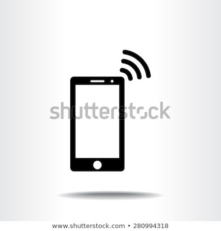 Icons showing phone signals Stock photo © bluering