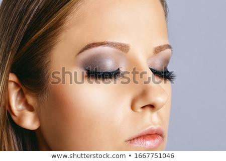 クローズアップ 肖像 女性 スモーキー アイメイク 深刻 ストックフォト © restyler