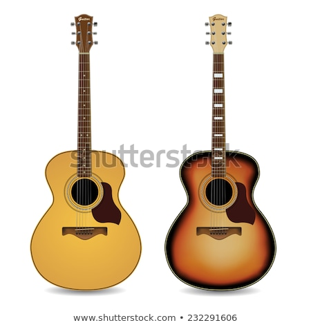 красный акустический тело гитаре набор Сток-фото © Bigalbaloo