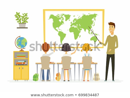 Students and geography subject Stock photo © bluering