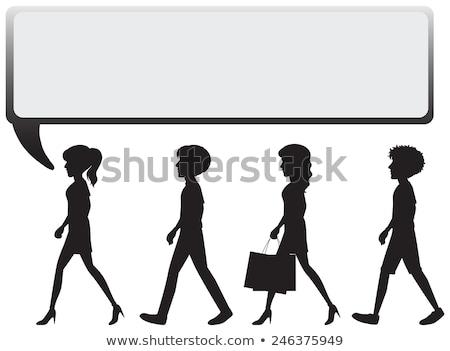 Grande vacío cuatro personas blanco cara diseno Foto stock © bluering