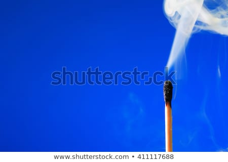 Extinguished Match On Blue Stock photo © cosma