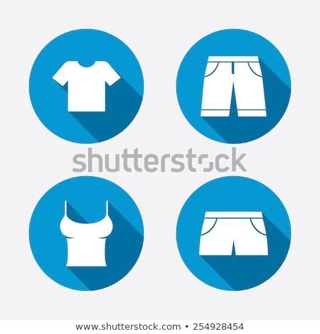 アイコン ショートパンツ 実例 白 背景 赤 ストックフォト © bluering