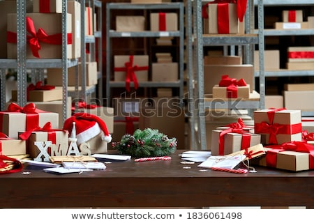 interior of modern warehouse many boxes stock photo © zurijeta
