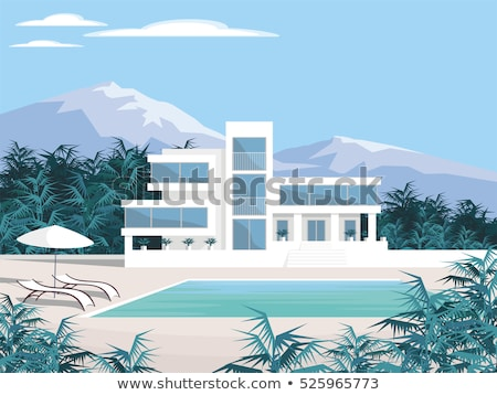 a big house with palm plants stock photo © bluering