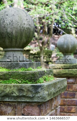 Stock photo: Gatepost with Moss