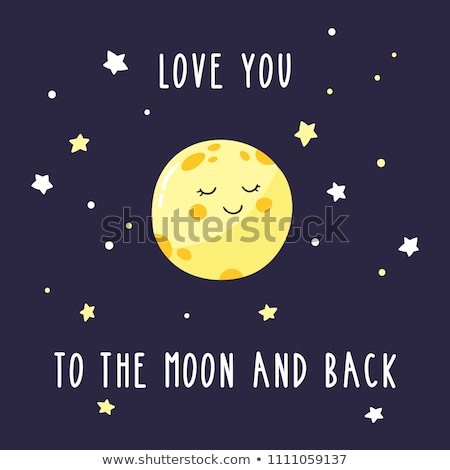 A smiling moon Stock photo © bluering