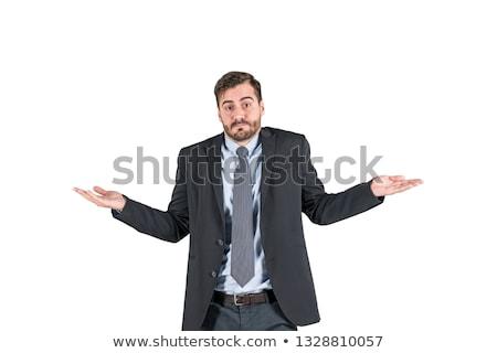 üzletember · bizonytalanság · üzlet · férfi · munka · jövő - stock fotó © lisafx