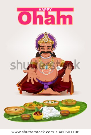 Happy Onam festival in Kerala. God King Mahabali Stock photo © orensila