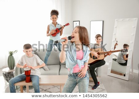 Children playing in the band Stock photo © bluering