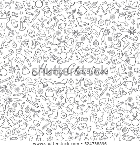 seamless pattern winter background with silver xmas balls vector illustration stock photo © carodi