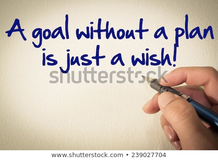 Setting Goals Quote Typewriter Stock photo © ivelin