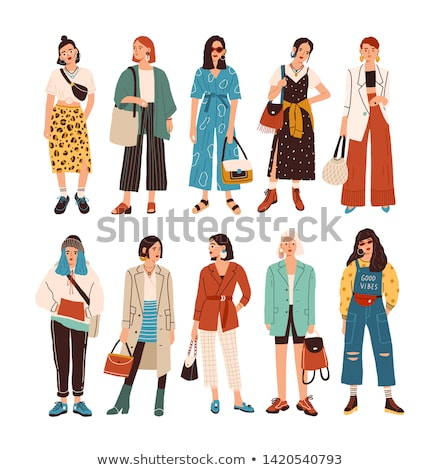 Vector illustration of stylish girl  Stock photo © Natali_Brill