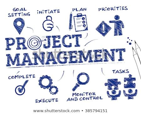 vector project management process diagram concept stock photo © orson
