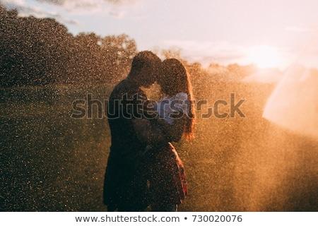 Stock fotó: Esik · az · eső · szeretet · kreatív · valentin · nap · fotó · felhők