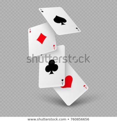 set of poker cards elements icon Stock photo © SArts